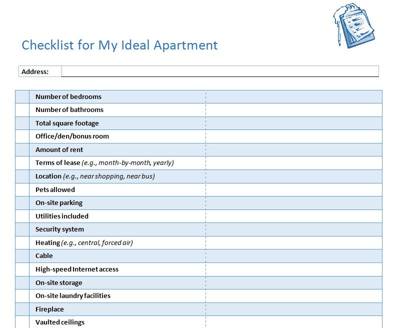 Checklist For First Apartment - Interior Design