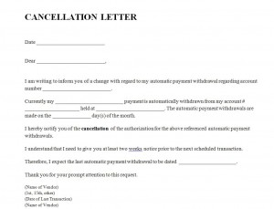 Sample Letter Of Cancellation Of Service from www.templatehaven.com